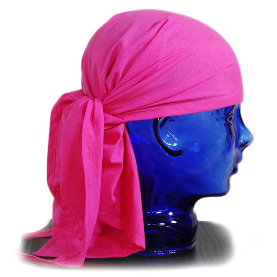 pink head scarve